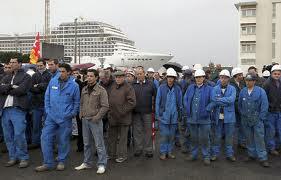 Les organisations syndicales reçues par Montebourg à Bercy ouvriers-stx-chantiers