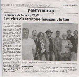 CPAM de Pontchâteau: On en parle dans la presse. dans AGIR cpam-article-edlp-du-28-06-13-300x293